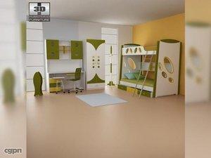 nursery room 07 set 3d model