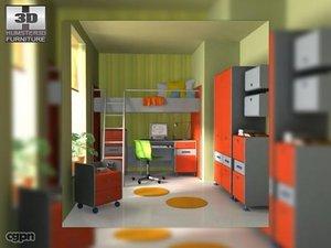 nursery room 3 3d 3ds