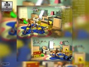 3d model baby nursery