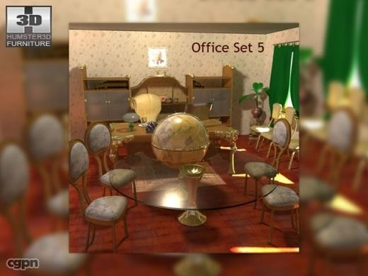 3d office set 05