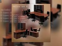 3d office set model