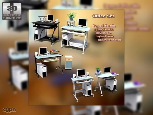 3d office set 13
