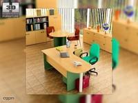office set 18 3d max