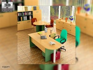 office set 18 3d max