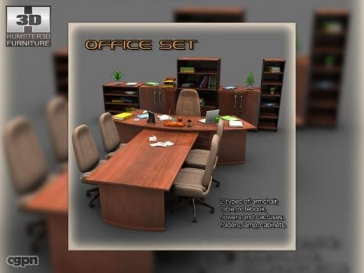 max luxury office set