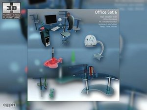 office set 6 3d max