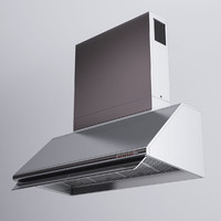 3d alpes inox kitchen hood model
