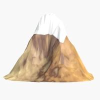3d model of cartoon mountain