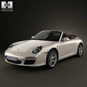 porsche 911 carrera 3d max
