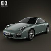 3d model porsche 911 targa