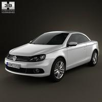 3d model volkswagen eos 2012