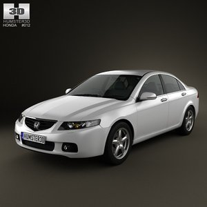 honda accord 2003 3d model
