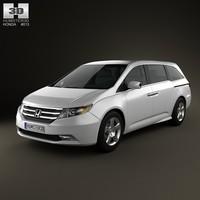 3d model honda odyssey 2011