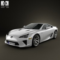 3d 3ds lexus lfa 2013