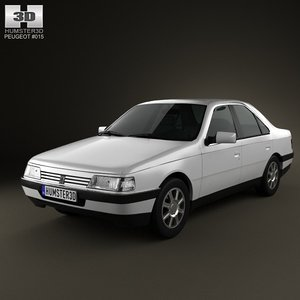 3d peugeot 405 sedan