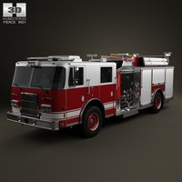 pierce truck pumper 3d model