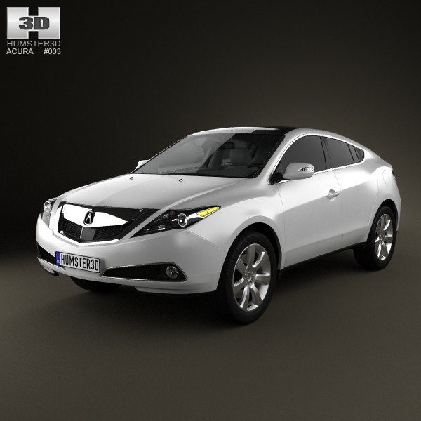 Acura Zdx For Sale: 3d Model Acura Zdx 2012