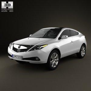 3d model acura zdx 2012