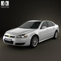 chevrolet impala 2012 3d 3ds