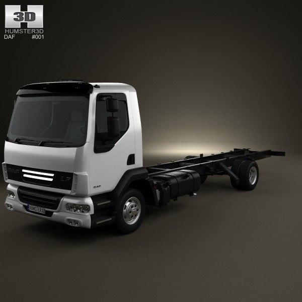 daf lf chassis 3d model