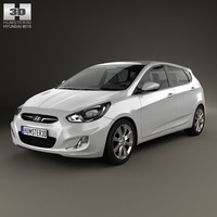 3d hyundai accent 2012 model