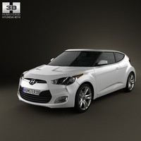 3d model of hyundai veloster 2012