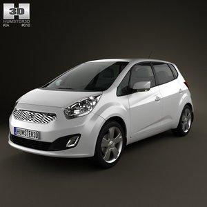 3d model kia venga 2011
