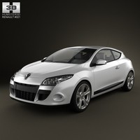 3d model renault megane coupe