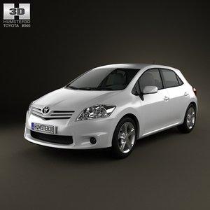 3d model toyota auris 2012