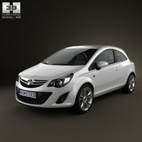 3d model of vauxhall corsa 2011