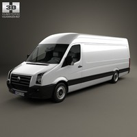3d model volkswagen crafter extralong