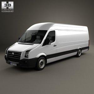 3d model volkswagen crafter extralong