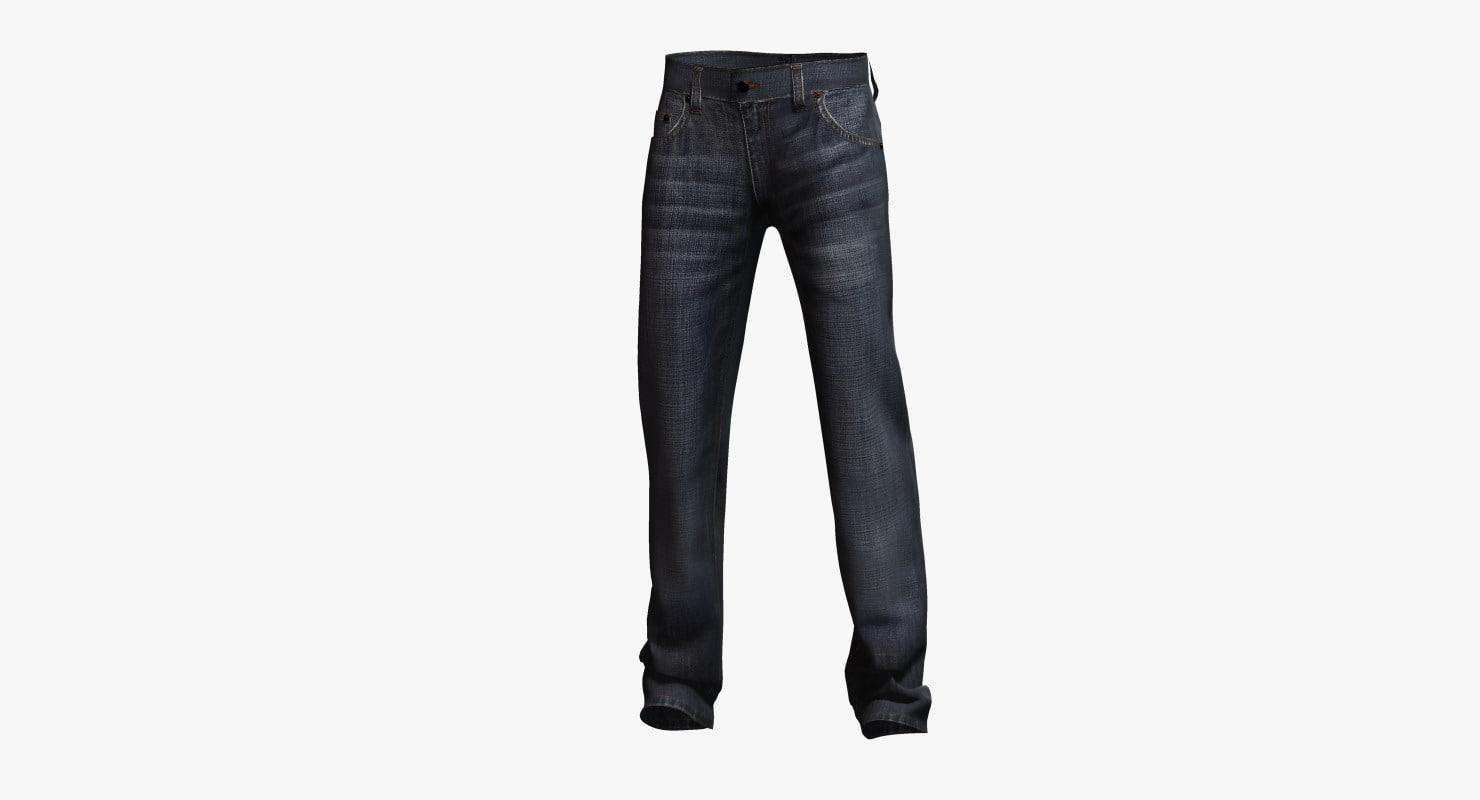 jeans classic pants 3d 3ds