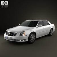 3d cadillac dts 2011 model