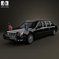cadillac dts limousine 3d max