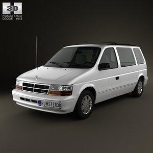 dodge caravan 1990 3d max