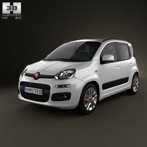 3d fiat panda 2012 model