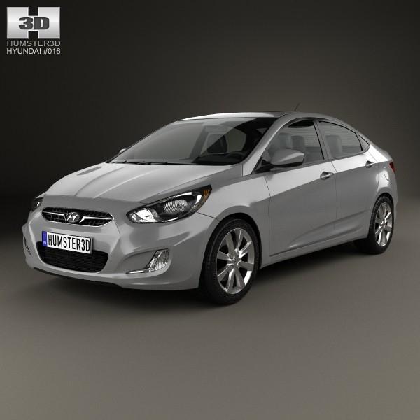 3d model hyundai accent 2012