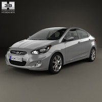 3d model hyundai accent 2012