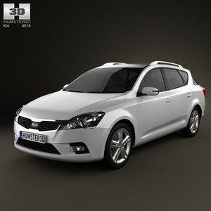 kia ceed 2011 3d model