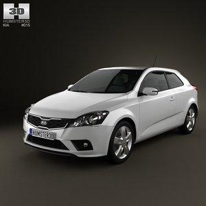 3d model kia ceed 3-door