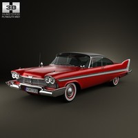 3d model plymouth fury sport