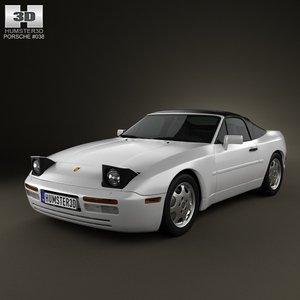 porsche 944 1991 3d model