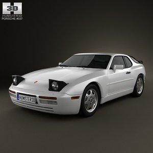 3d max porsche 944 1991