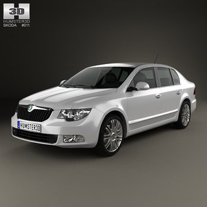 skoda superb sedan obj