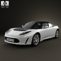tesla roadster 2011 3d max