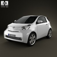 3d model toyota iq 2009