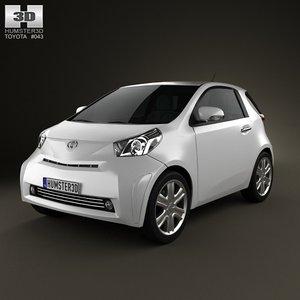 3d model toyota iq 2009