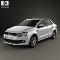 volkswagen polo sedan 3d model