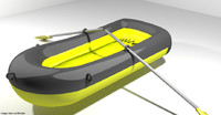 3d model boat inflatable row